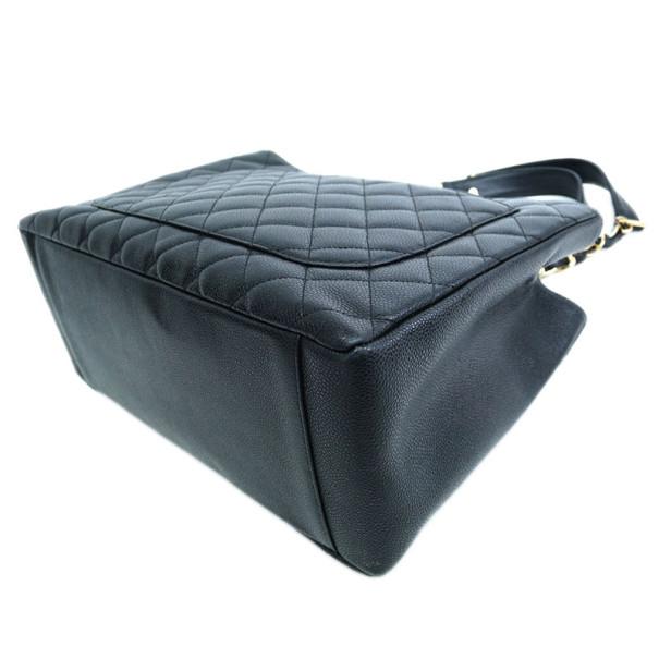 Chanel Black Caviar Leather Grand Shopper Tote