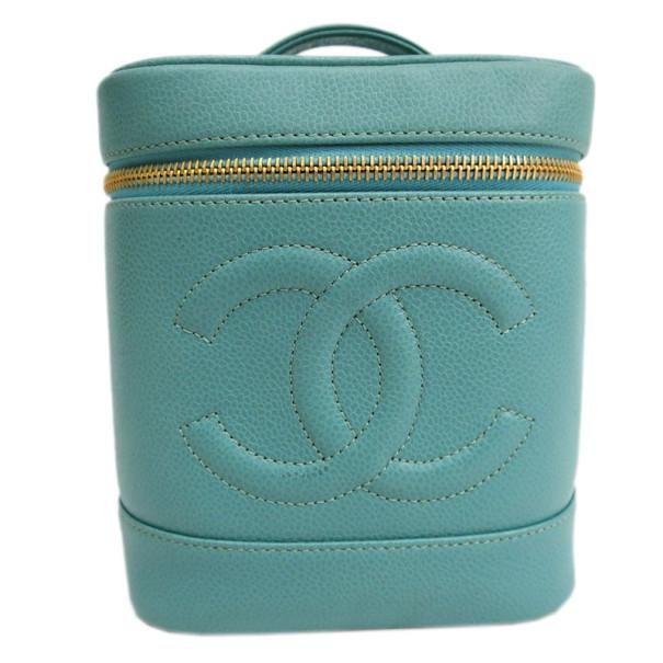 Chanel Green Caviar Vanity Bag