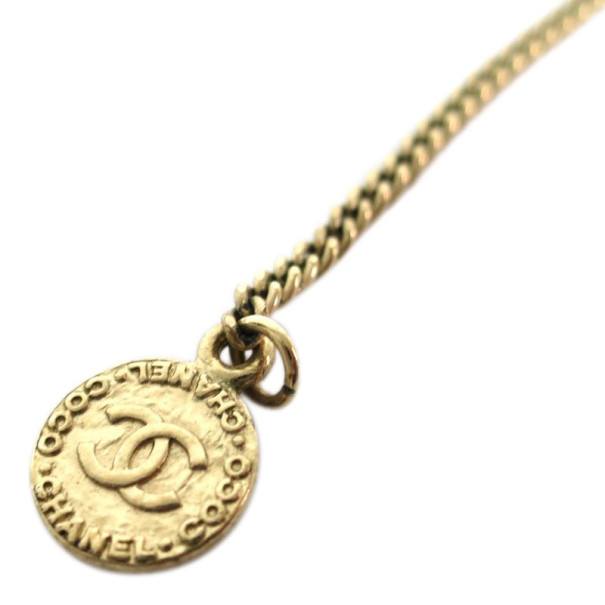 Chanel CC Crystal Large Pendant Necklace