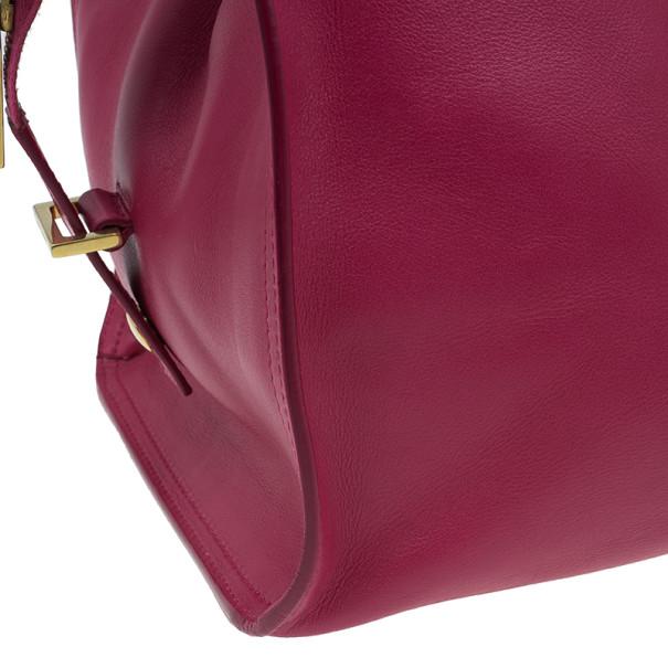 Saint Laurent Paris Pink Leather Classic Y Cabas Tote