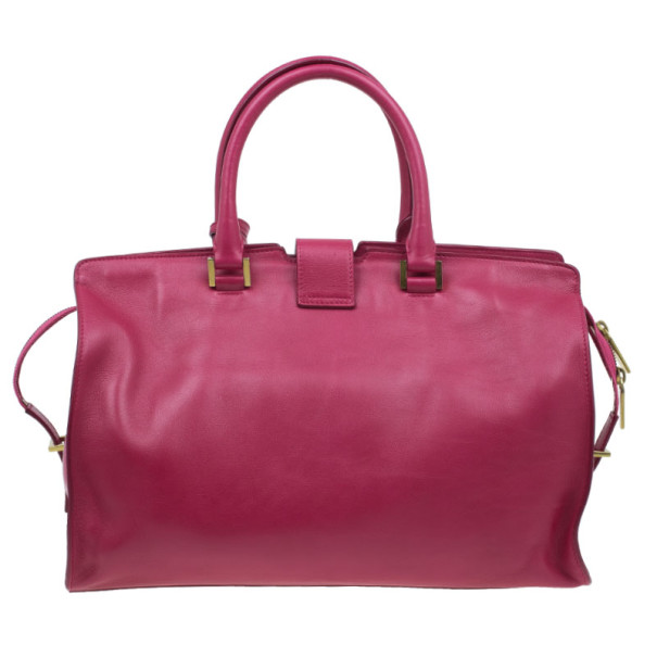 Saint Laurent Paris Pink Leather Classic Y Cabas Tote