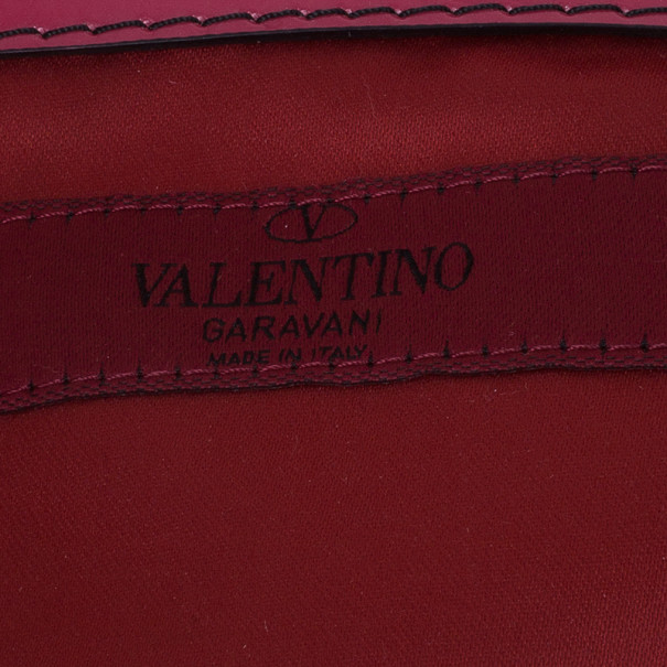 Valentino Red Silk and Leather Rosier Tote