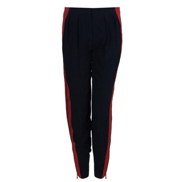 Alexander McQueen Contrast Stripe Crepe Track Pants S