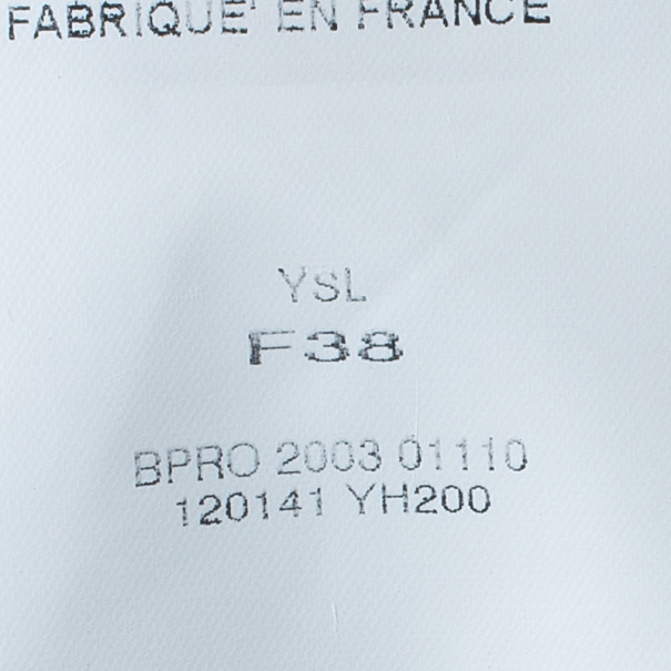 Saint Laurent Paris Soft Tulle Embellished Top M