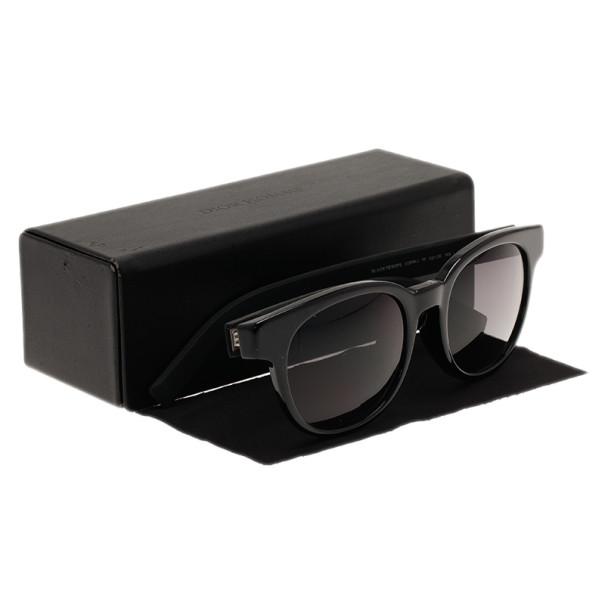Dior Black Round Black Tie Sunglasses