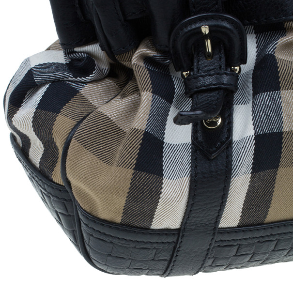 Burberry Nova Check Canvas and Leather Satchel