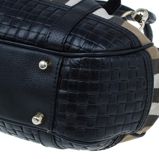 Burberry Nova Check Canvas and Leather Satchel
