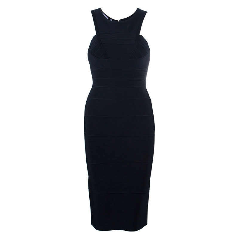 Herve Leger Black Bandage Dress XS