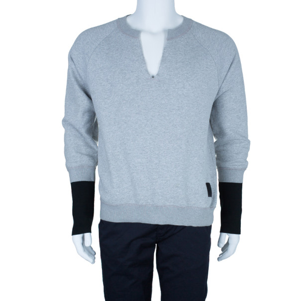 Alexander McQueen Men's Gray V-Neck Sweater L