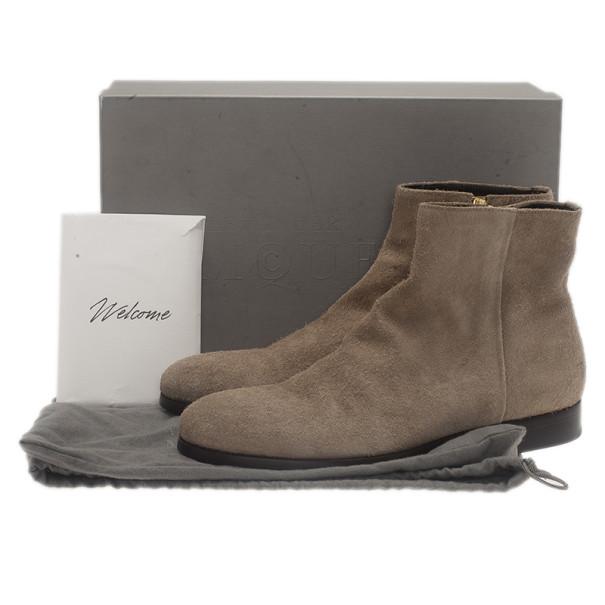 Alexander McQueen Beige Suede Chelsea Ankle Boots Size 44