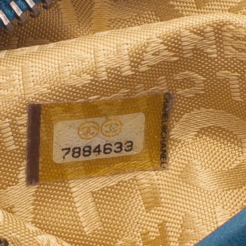Chanel Blue Lambskin Small Chain Hobo Bag