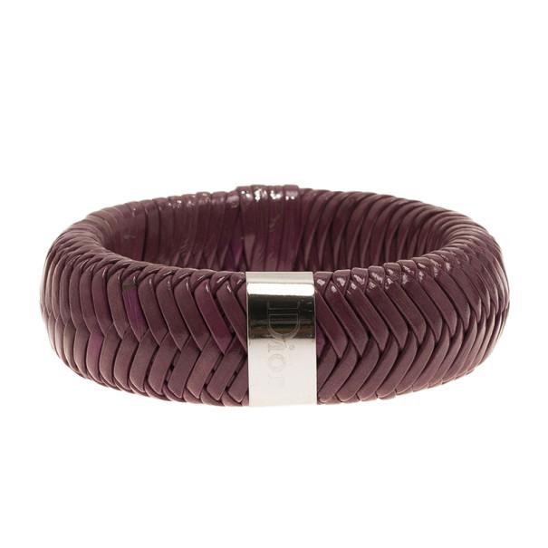 Dior Leather Purple Bangle 19CM