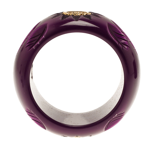 Roberto Cavalli Wide Flower Bangle 20CM