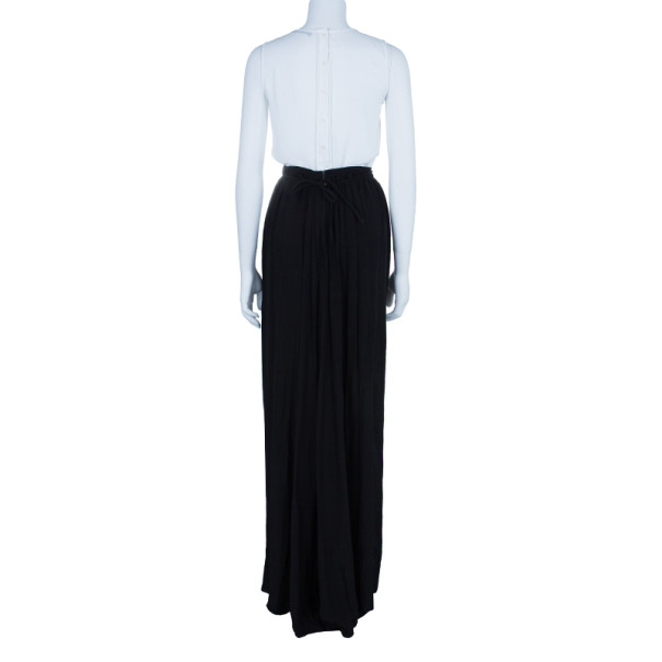 Just Cavalli Black Chiffon Maxi Skirt S