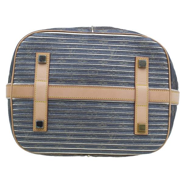 Louis Vuitton Metallic Leather Striped Eden Néo Tote