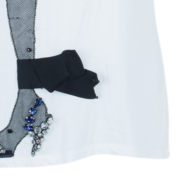 Lanvin Fishnet Stocking Embellished T-Shirt M