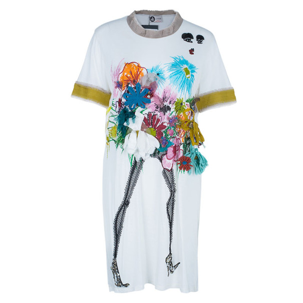Lanvin Floral Embellished Short Dress L