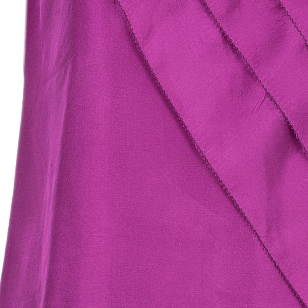 Oscar De La Renta Fuchsia Silk Layered Top M