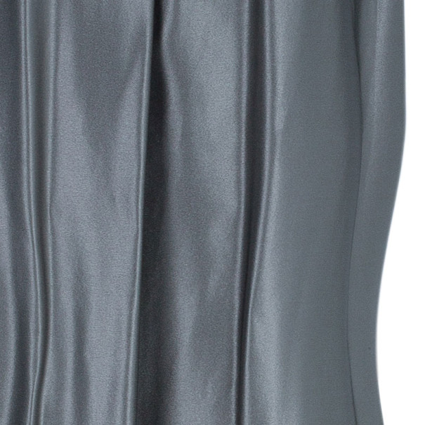 Lanvin Gathered Silk Midi Dress M