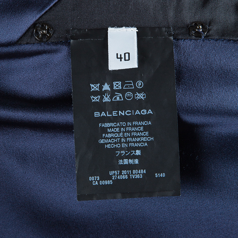 Balenciaga Midnight Blue Halter Gown M