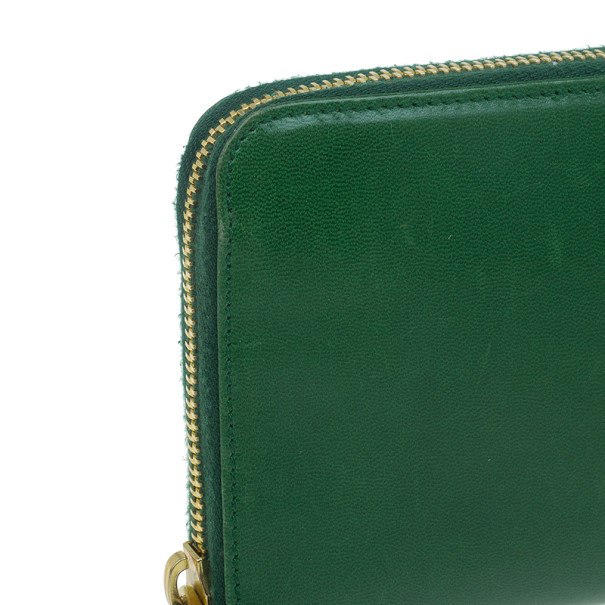 prada saffiano lux tote red - Prada Green Leather Zip Around Continental Wallet - Buy \u0026amp; Sell ...