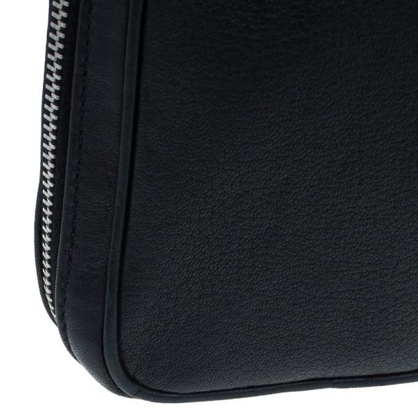Saint Laurent Paris Black Leather Chain Wristlet
