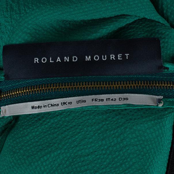 Roland Mouret Emerald Silk Column Gown M