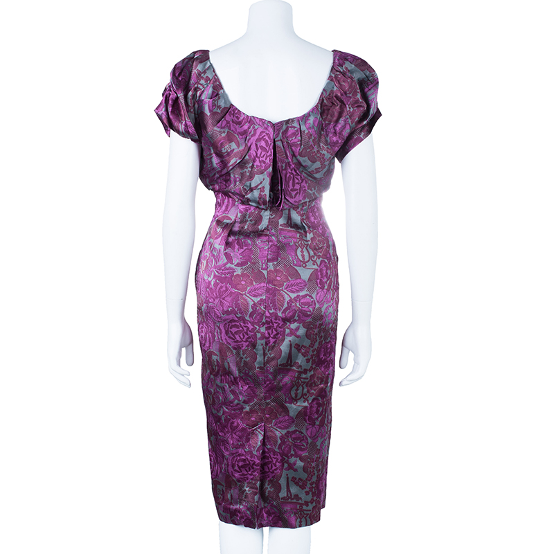 Philosophy di Alberta Ferretti Floral Printed Dress M