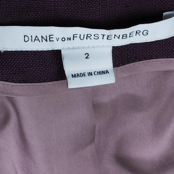 Diane Von Furstenberg Plum Plaxico Blazer S