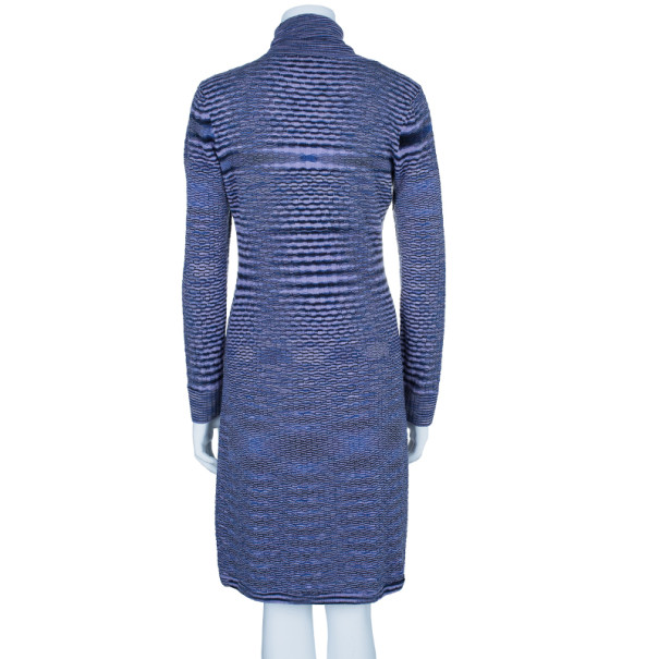 Knitting Pattern Turtleneck Dress : Missoni Variegated Turtleneck Knit Dress M - Buy & Sell - LC