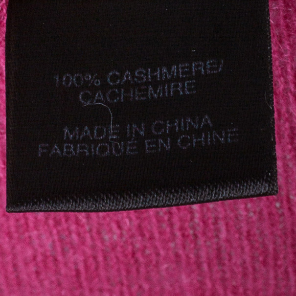 Marc by Marc Jacobs Pink Button Down Cashmere Cardigan S