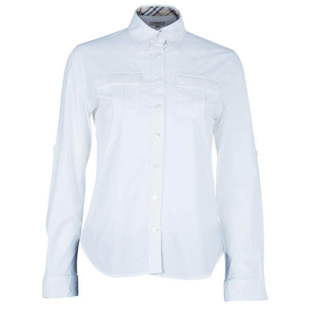 Burberry White Classic Button Down Shirt L