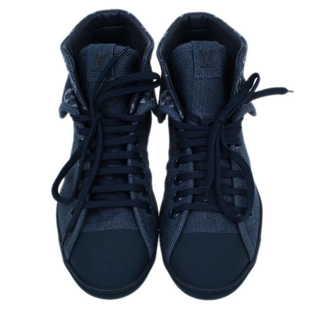 Louis Vuitton Denim Brea Sneaker Boots Size 38.5