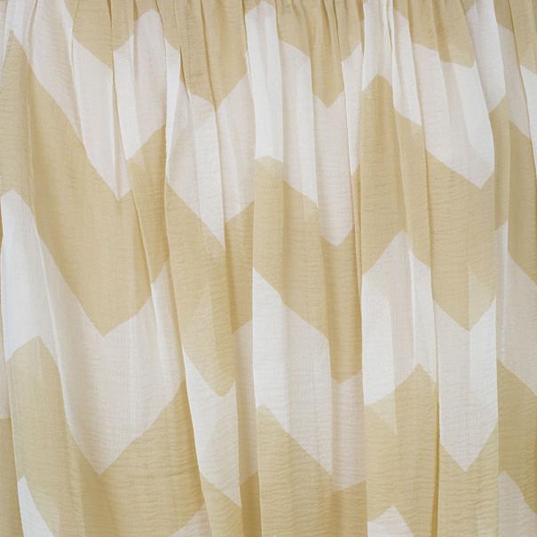 Chanel Chevron Print Silk Chiffon Skirt M