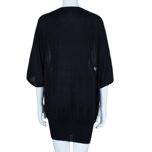 Gucci Black Cashmere Sweater Dress M