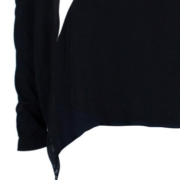 Dior Chiffon Cotton Blend Top M
