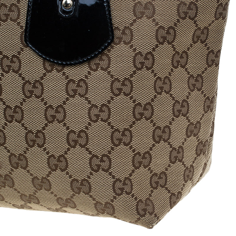 Gucci Beige GG Canvas Medium Jolie Charm Tote Bag