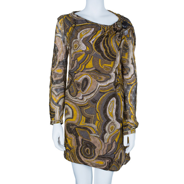 Missoni Multicolor Patterned Dress With Stone Embellishment L