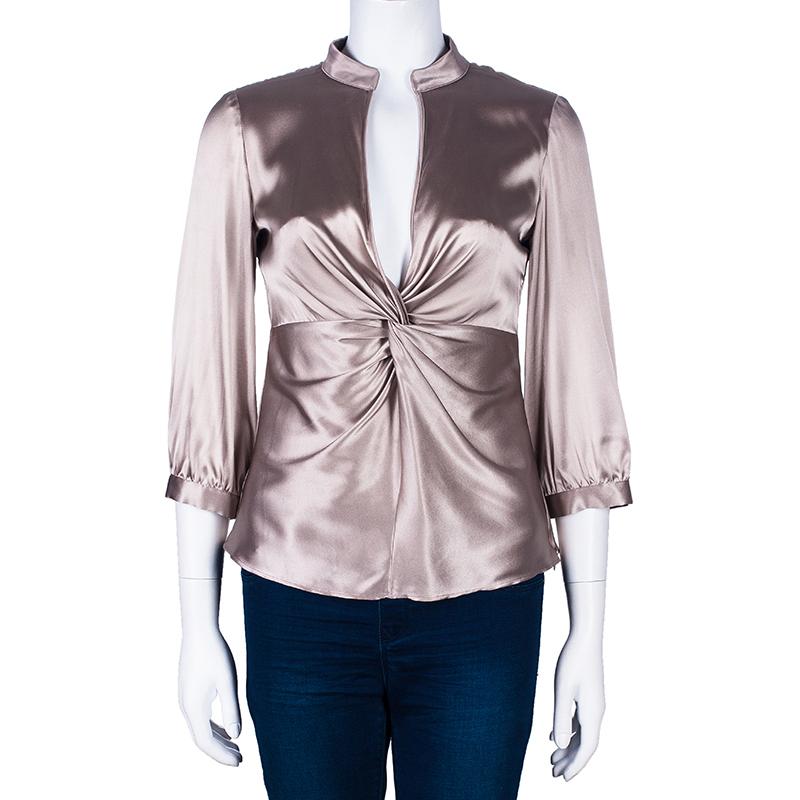 Armani Collezioni Beige Silk Top S