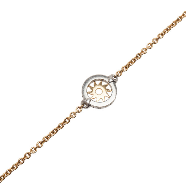 Bvlgari Tondo Sun Stainless Steel and 18K Yellow Gold Sautoir Necklace
