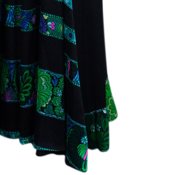 Roberto Cavalli Printed Paneled Top And Skirt Set M