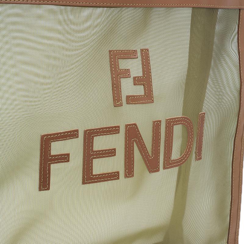 Fendi Nylon and leather Shopper Shoulder Bag