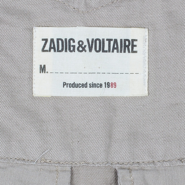 Zadig & Voltaire Plumo Two-Tone Cropped Pants XS