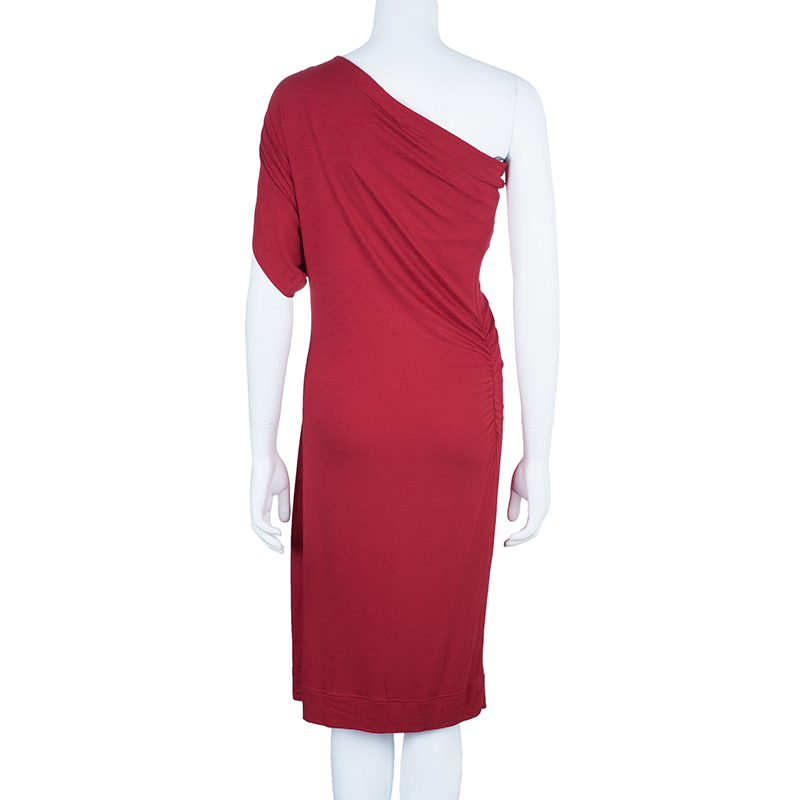 Vivienne Westwood Anglomania Red Aster One Shoulder Jersey Dress XL