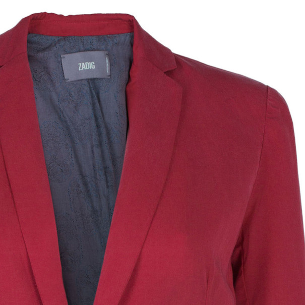 Zadig & Voltaire Red Casual Fitted Blazer XS