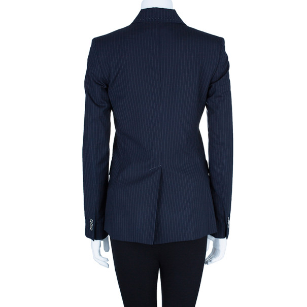 D and G Pinstriped Tailored Blazer S