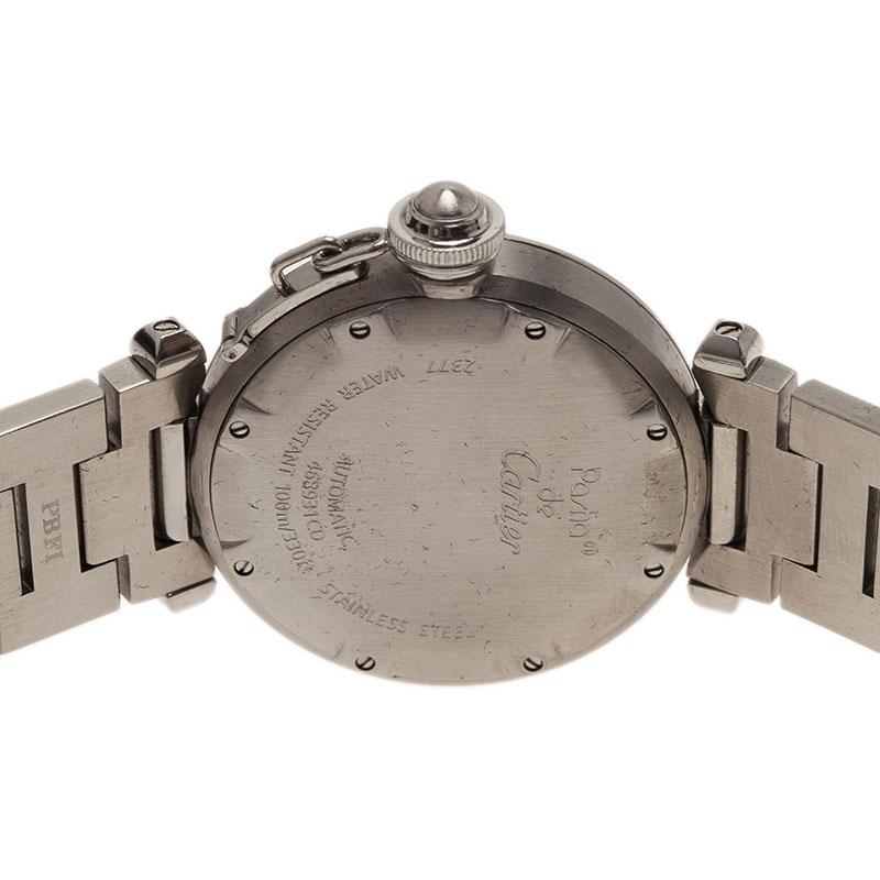 Cartier Silver Stainless Steel Pasha De Women's Wristwatch 35MM