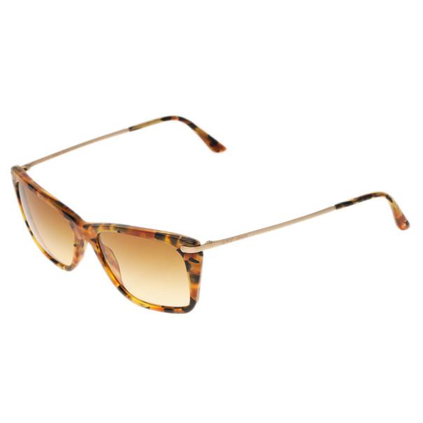 Giorgio Armani Brown Rectangle Sunglasses