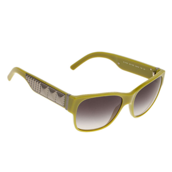 Burberry Lime Green Square Sunglasses