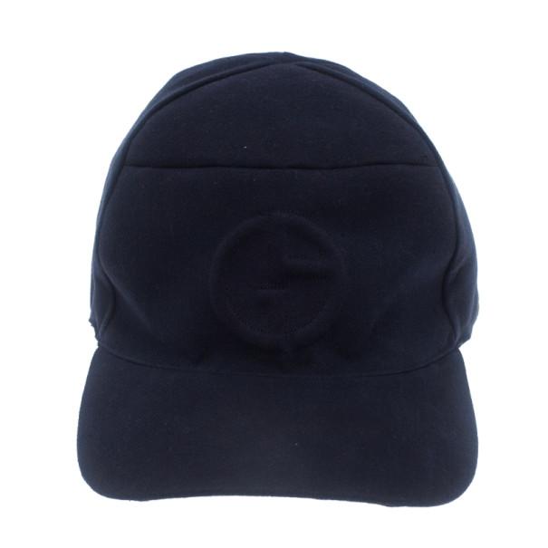 Giorgio Armani Blue Logo Baseball Cap Size 60